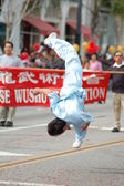 PASADENA, CA-USA - FEBRUARY 18: Wushu Federation Martial Arts performers at Chinese Lunar New Year Parade on February 18 2007 in Pasadena California — Stock Photo