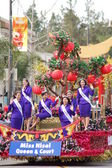 PASADENA, CA-USA - FEBRUARY 18: Miss Nisei Queen and Court float at Chinese Lunar New Year Parade on February 18 2007 in Pasadena California — Stock Photo