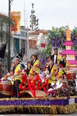 PASADENA, CA-USA - FEBRUARY 18: Kodama Taiko of Pasadena music performers on float at Chinese Lunar New Year Parade on February 18 2007 in Pasadena California — Stock Photo