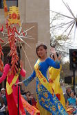 PASADENA, CA-USA - FEBRUARY 18: Miss Vietnam runner up contestant on float at Chinese Lunar New Year Parade on February 18 2007 in Pasadena California — Stock Photo