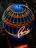 Paris casino entrance with dazzling lights in las vegas — Stock Photo