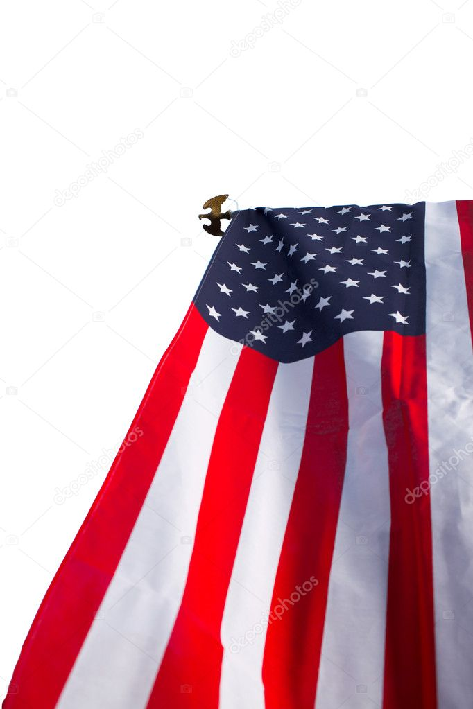 American flag isolated on white — Stock Photo #11375900