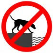 Stock Photo: Prohibition sign for dogs