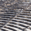 Ruins of ancient theater. Seats only. Nobody. — Stock Photo