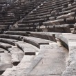 Ruins of ancient theater. Seats only close up. — Stock Photo