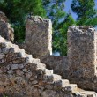 Stone steps of an ancient ladder — Stock Photo