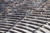 Ruins of ancient theater. Seats only. Nobody. — 图库照片