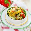 Stock Photo: Ratatouille on white plate