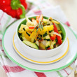 Ratatouille on white plate — Stock Photo