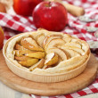 Stock Photo: Freshly baked homemade apple pie