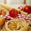 Freshly baked apple pie - Stock Photo