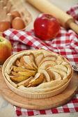Freshly baked homemade apple pie — Stock Photo