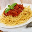 Royalty-Free Stock Photo: Spaghetti Bolognese on white plate