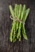 Bunch of fresh green asparagus spears — Stock Photo
