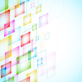 抽象背景与正方形 — 图库矢量图片