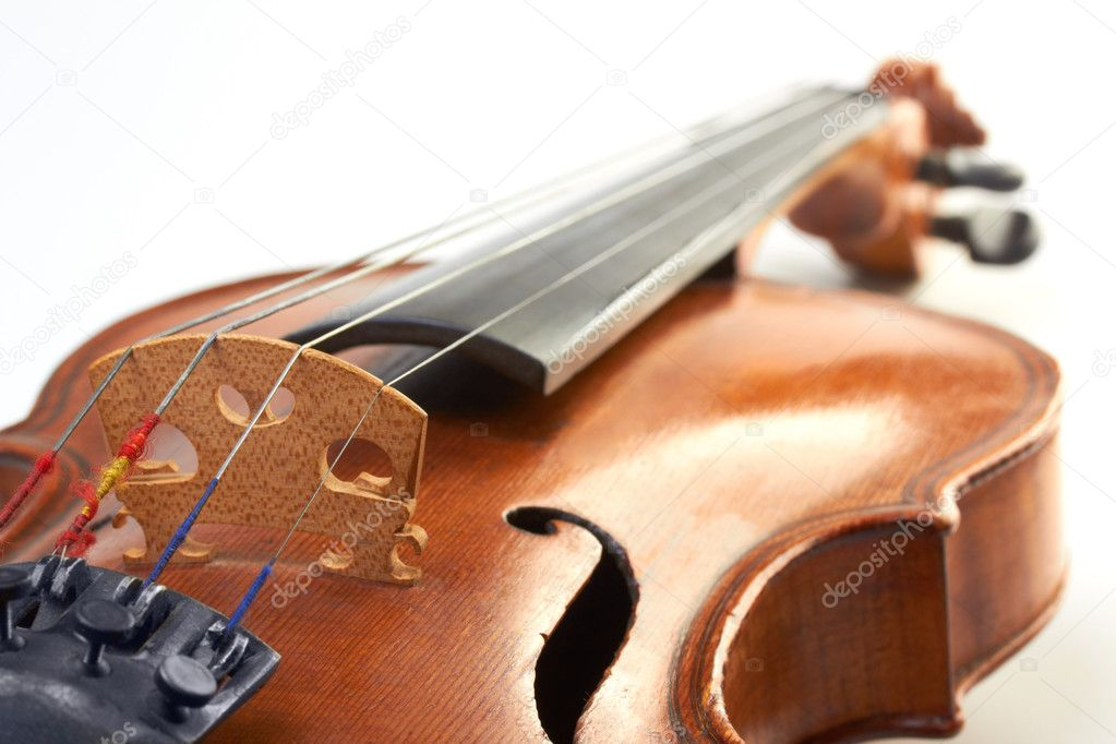 Violin part on white — Stock Photo #11830352