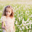 Little girl with dandelion — Stock Photo #11161603
