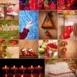 Christmas decoration on wooden background — Stockfoto
