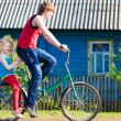 Children with their bikes — Stock Photo #11165091