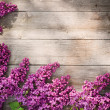 The beautiful lilac on a wooden background — Stock Photo #11165804
