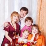 Family Enjoying Christmas Meal At Home — Stock Photo