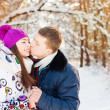 Couple in winter park — Stock Photo #11166269