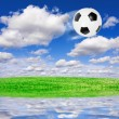Football soccer ball — Stock Photo