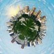 Stock Photo: Spherical panoramview on Moscow