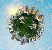 Spherical panorama view on Moscow — Stock Photo
