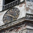 Old clock on the medieval tower — Stock Photo