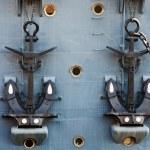 Anchors of Cruiser Aurora — Stock Photo