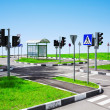 Street intersection and road signs — Stock Photo