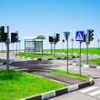 Street intersection and road signs - Stock Photo