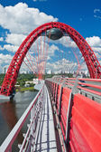Modern suspension bridge — Stock Photo