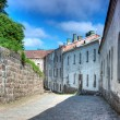 House in the street the medieval castle — Stock Photo