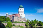 Středověký švédský hrad ve městě vyborg — Stock fotografie
