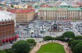 St. Isaac's Square and the monument to Nicholas I in St. Petersb — Foto de Stock