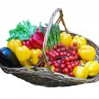 Stock Photo: Basket of fresh vegetables