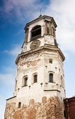 Medieval clock tower in Vyborg — Stock Photo