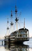 Gran velero en el puerto — Foto de Stock