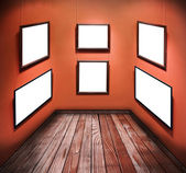 Empty frames on the walls — Stock Photo