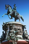 Monument to Nicholas I (1859) in St. Petersburg — Stock Photo