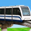 Stock Photo: High Speed Monorail Train