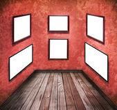 Leere bilder an den wänden — Stockfoto