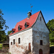 burger xvi century manor is the oldest house in vyborg — Stock Photo