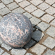 Granite stone ball — Stock Photo
