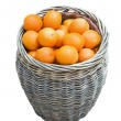 Ripe oranges in a basket — Stock Photo