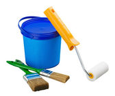 Painting supplies and tools — Stock Photo