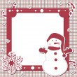 Vector Christmas and New Year scrapbook card - Stock Vector
