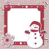 Vector Christmas and New Year scrapbook card — Stock Vector